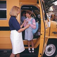 Student with disabilities getting of school bus - Cahill Associates Law